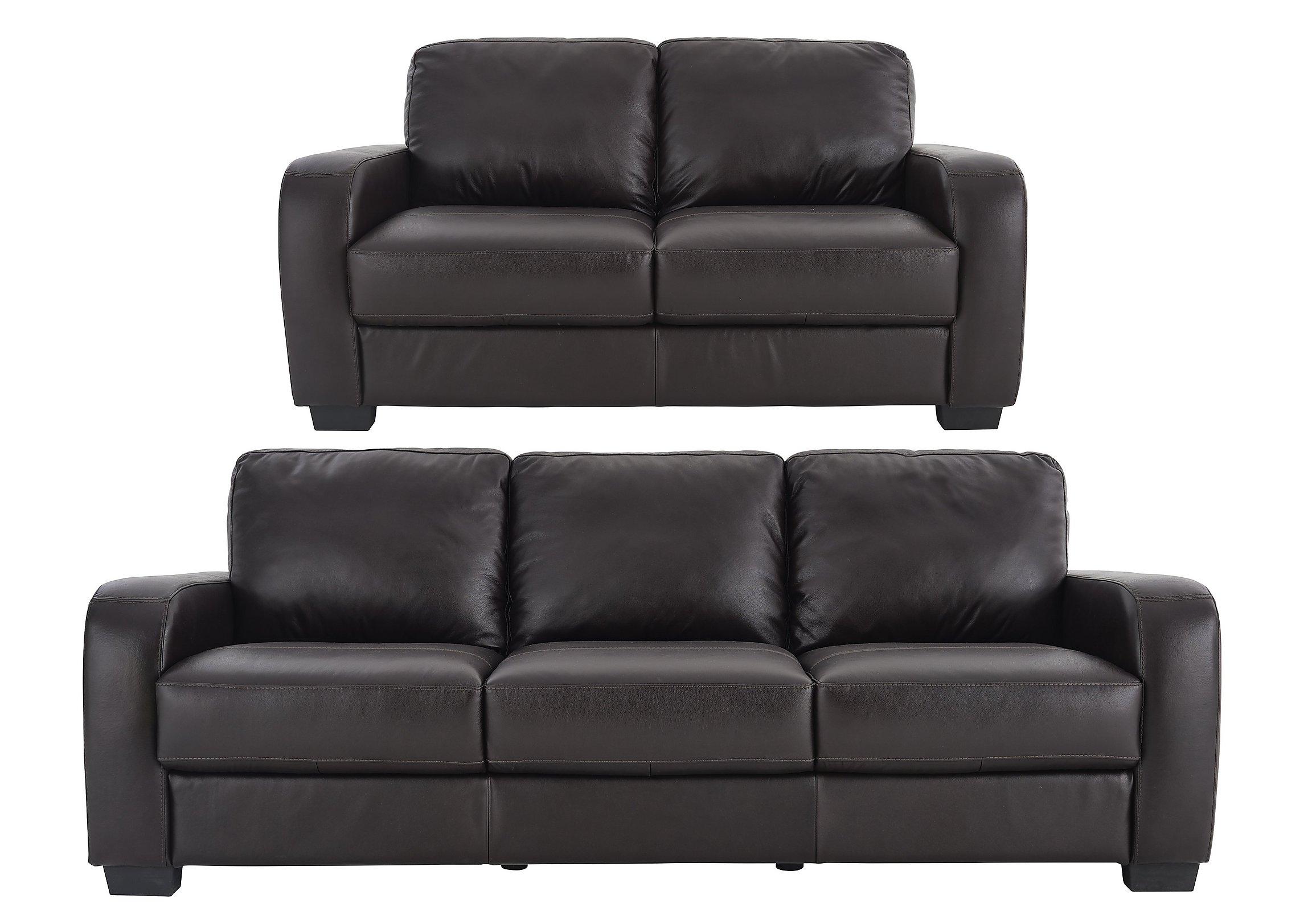 Astor Seater Leather Sofas Furniture Village - Mahogany leather sofa