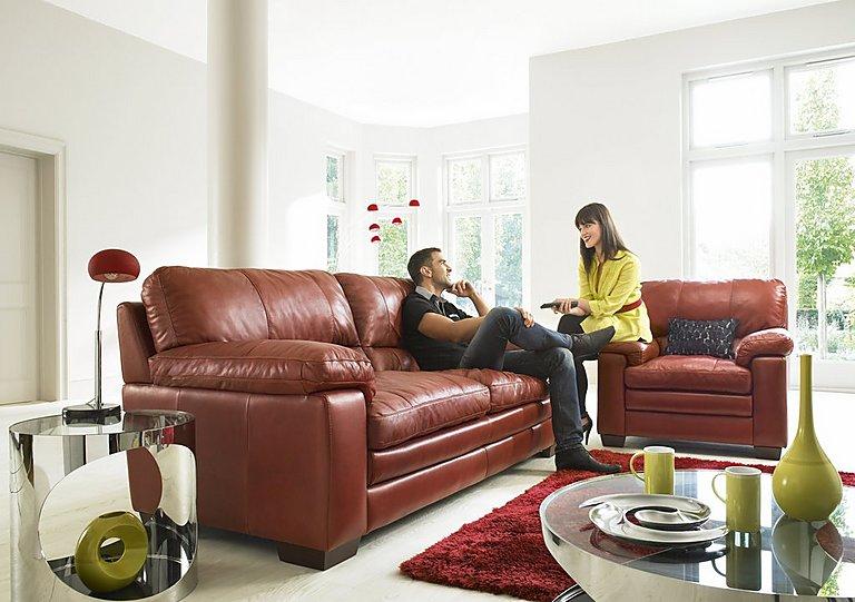 Charmant Carolina 3 U0026 2 Seater Leather Sofas