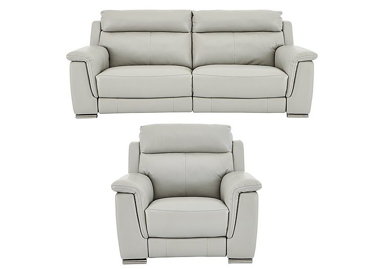 Glider Leather 3 Seater Sofa Amp Power Recliner Armchair