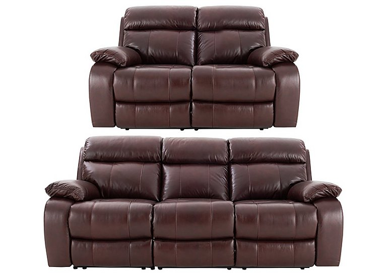 Moreno 3 Amp 2 Seater Leather Power Recliner Sofas World
