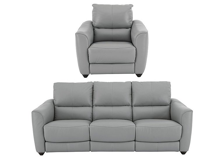 Trilogy 3 Seater Leather Power Recliner Sofa U0026 Armchair