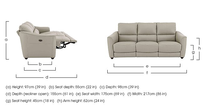 3 Seater Recliner Sofa Dimensions Www Gradschoolfairs Com