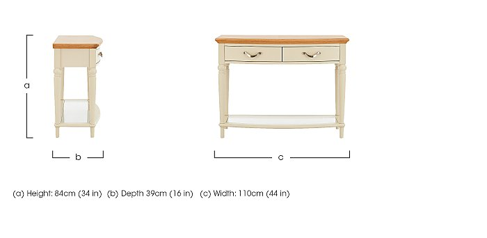 Annecy Console Table in  on Furniture Village