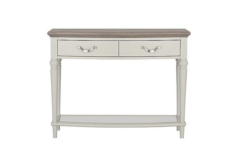 Annecy Console Table in Grey Washed Oak And Soft Grey on Furniture Village