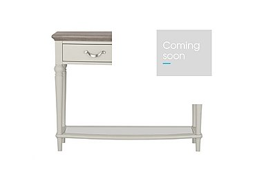 Annecy Console Table in Soft Grey Paint on Furniture Village