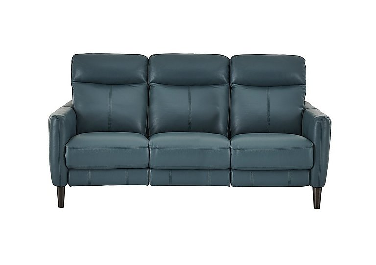 Merveilleux Compact Collection Petit 3 Seater Leather Recliner Sofa
