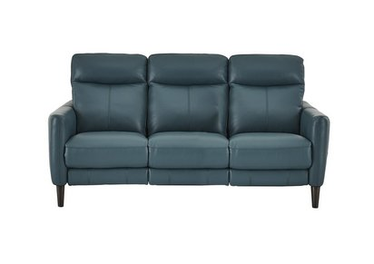Compact Collection Petit 3 Seater Leather Recliner Sofa