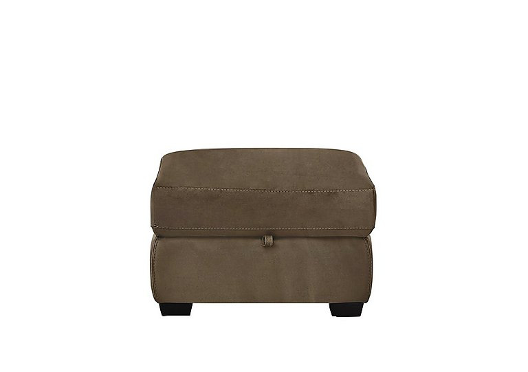Compact Collection Petit Fabric Storage Footstool in Bfa-Blj-R04 Tobacco on Furniture Village