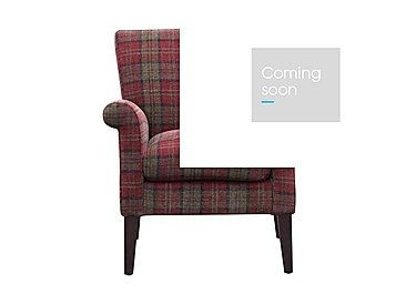 Balmoral Fabric Accent Chair in Claret on Furniture Village