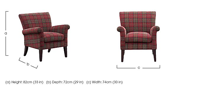 Balmoral Fabric Accent Chair in  on Furniture Village
