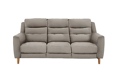 Compact Collection Bijoux 3 Seater Fabric Recliner Sofa in Bfa-Blj-R946 Silver Grey on Furniture Village