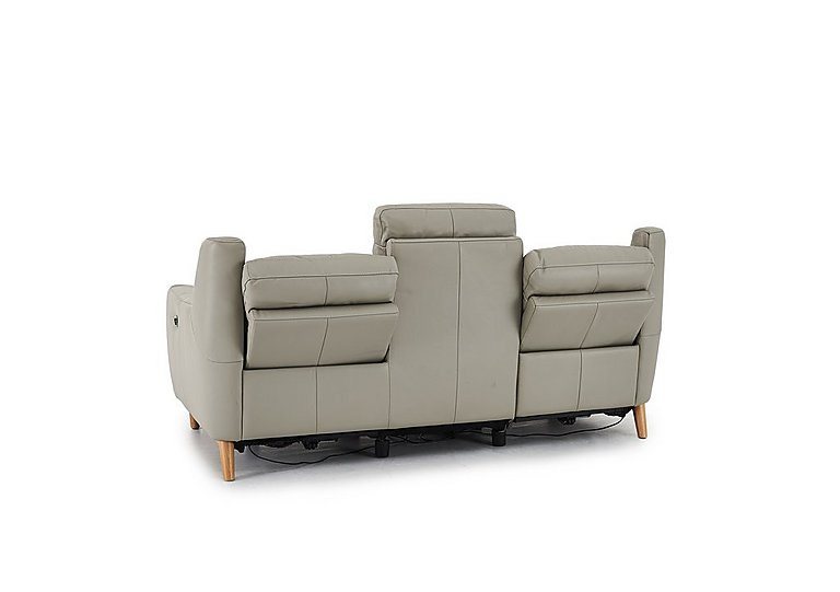 Compact Collection Bijoux 3 Seater Leather Recliner Sofa World Of