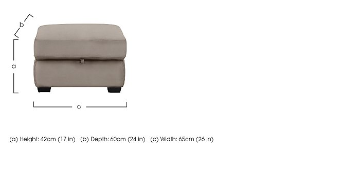 Compact Collection Bijoux Fabric Storage Footstool in  on Furniture Village
