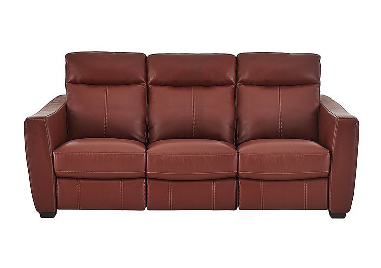 Compact Collection Midi 3 Seater Leather Recliner Sofa