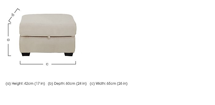 Compact Collection Midi Fabric Storage Footstool in  on Furniture Village