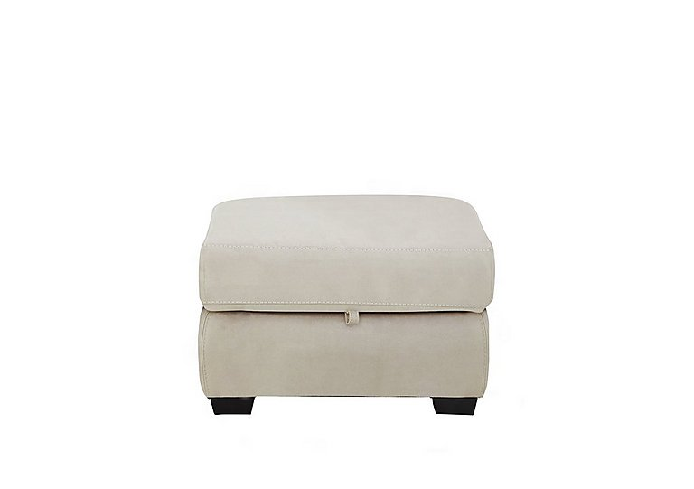 Compact Collection Midi Fabric Storage Footstool in Bfa-Blj-R20 Bisque on Furniture Village