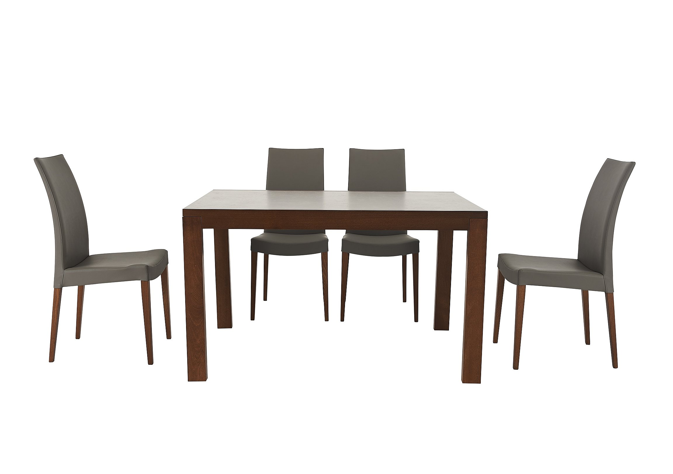 Smart Extending Dining Table with 4 Chairs - Calligaris - Furniture ...