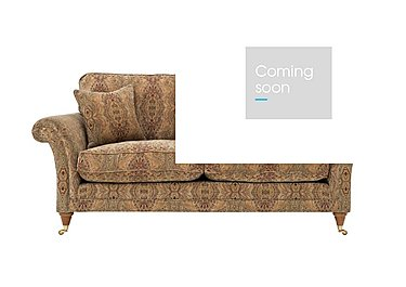 Burghley Large 2 Seater Fabric Sofa in 050026-318 Baslow Medalli Gold on Furniture Village