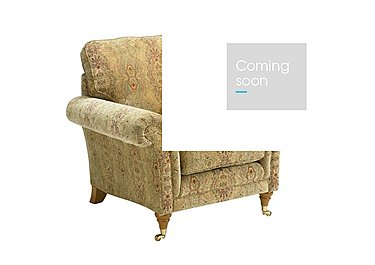 Burghley Fabric Armchair in 050026-318 Baslow Medalli Gold on Furniture Village