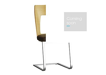 Romana Cantilevered Dining Chair in L801 Dark Brown on Furniture Village