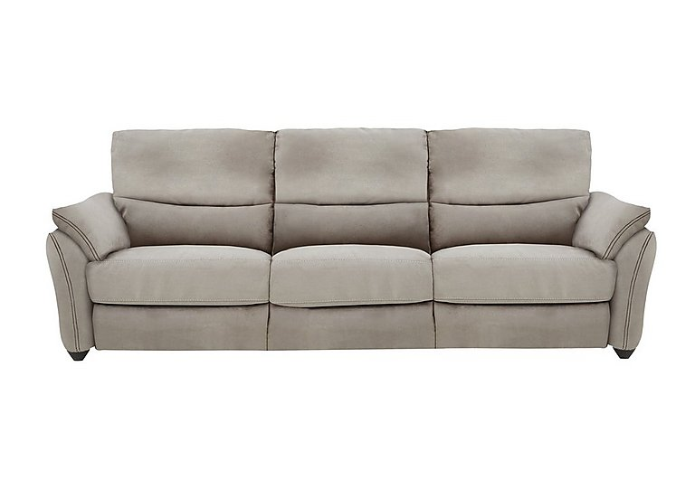 Salamander 3 Seater Fabric Recliner Sofa in Bfa-Blj-R946 Silver Grey on Furniture Village