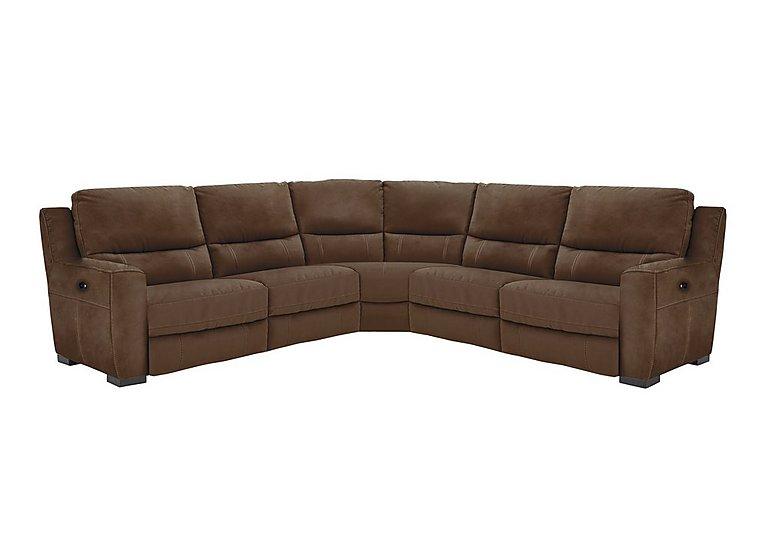 Rodeo Fabric Recliner Corner Sofa in Bfa-Blj-R05 Hazelnut on Furniture Village