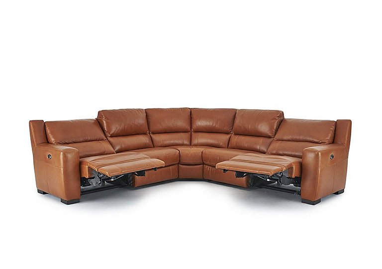 Rodeo Leather Recliner Corner Sofa