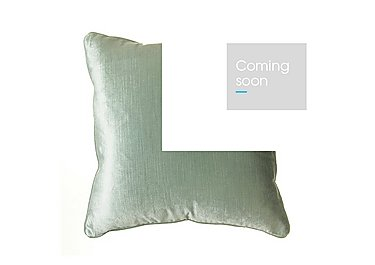 Velvet Sheen Duo Cushion in Duck Egg on Furniture Village