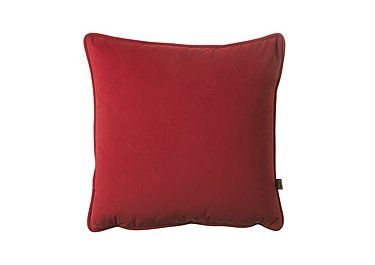 Velour Cushion in Red on Furniture Village