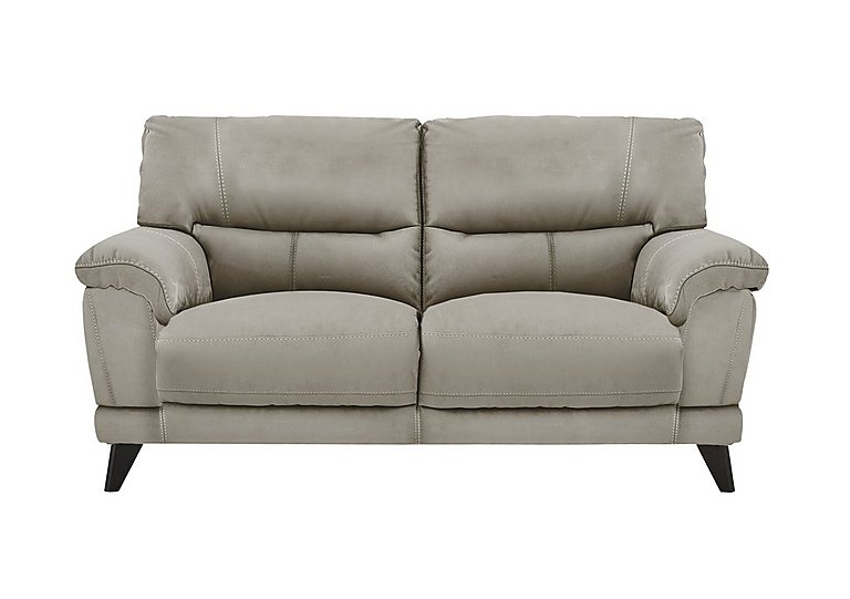 Pacific 2 Seater Fabric Sofa in Bfa-Blj-R946 Silver Grey on Furniture Village