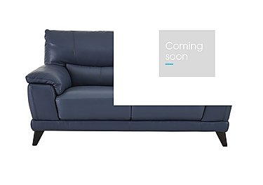 Pacific 2 Seater Leather Sofa in Nc-313e Ocean Blue on Furniture Village