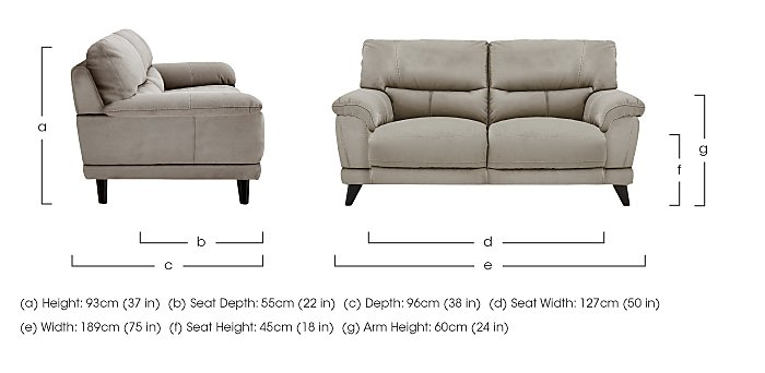 Pacific 2.5 Seater Fabric Sofa in  on Furniture Village