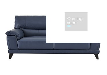 Pacific 3 Seater Leather Sofa in Bv-313e Ocean Blue on Furniture Village