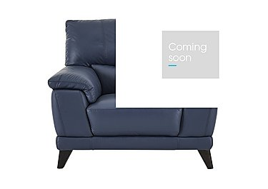 Pacific Leather Armchair in Bv-313e Ocean Blue on Furniture Village