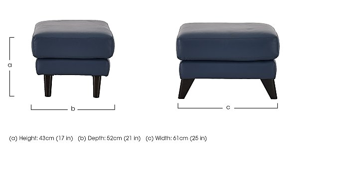 Pacific Leather Footstool in  on Furniture Village