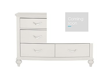 Annecy 6 Drawer Wide Chest in Soft Grey Paint on Furniture Village