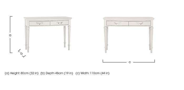 Annecy Dressing Table in  on Furniture Village
