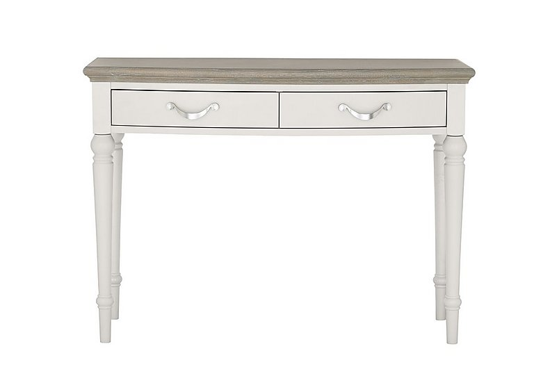 Annecy Dressing Table in Soft Grey And Grey Washed Oak on Furniture Village