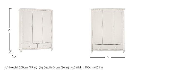 Annecy Triple Wardrobe in  on Furniture Village