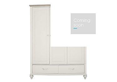 Annecy Triple Wardrobe in Soft Grey And Grey Washed Oak on Furniture Village