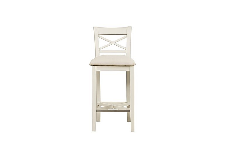 Arles Pair of Bar Stools in Off White With Cream Seat on Furniture Village