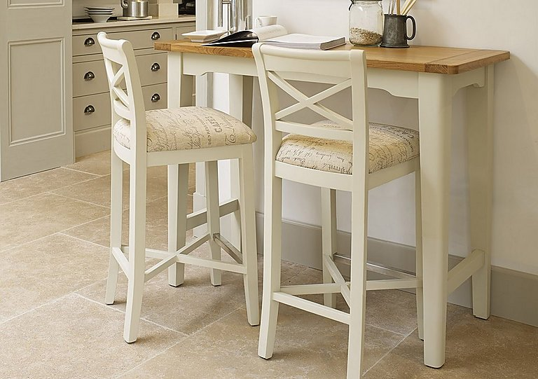 Awesome Arles Bar Table And 2 Bar Stools