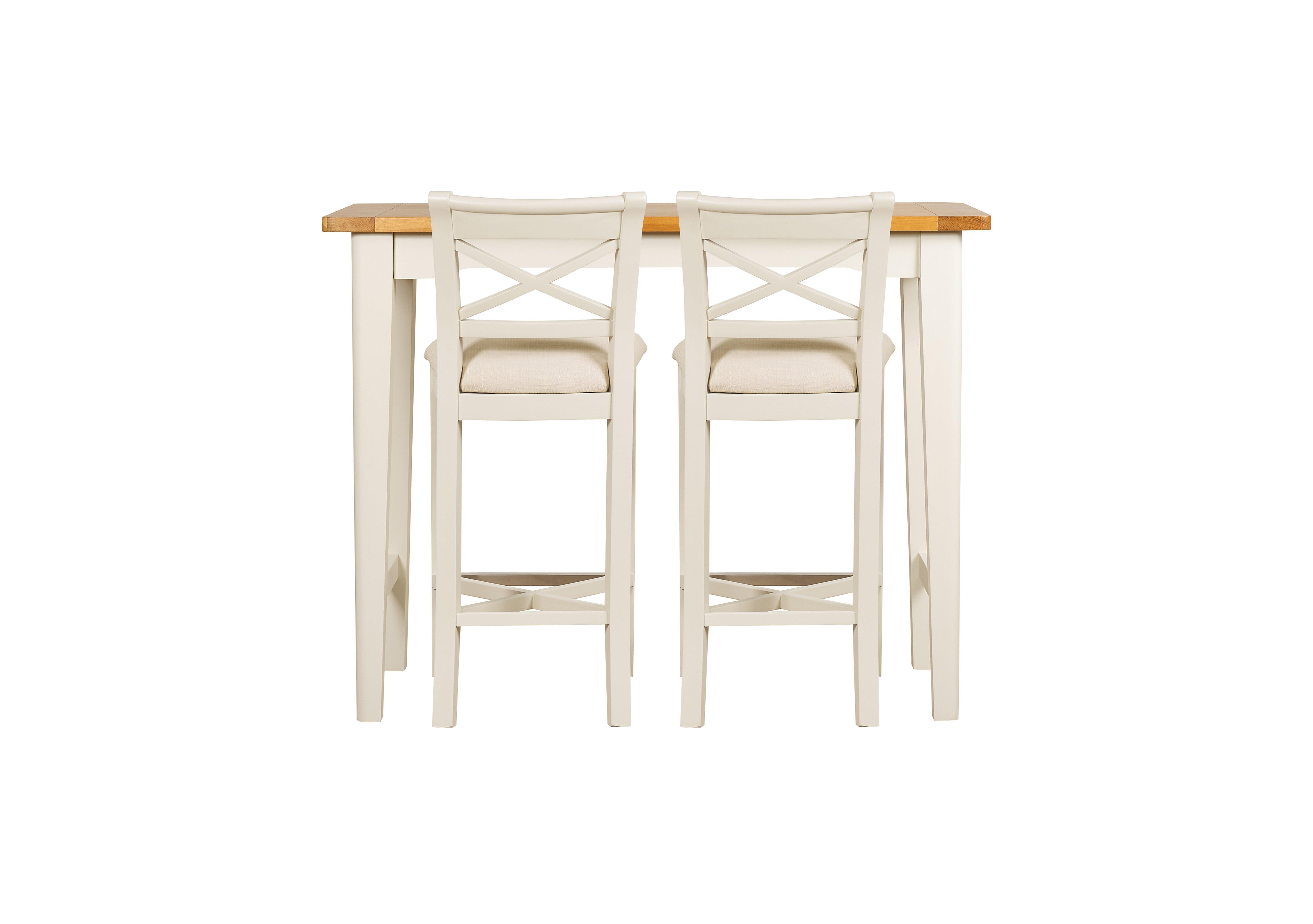 Arles Bar Table and 2 Bar Stools Furniture Village