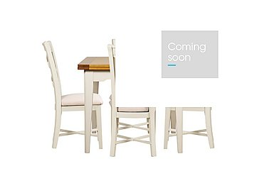 Arles Flip Top Dining Table and 4 Chairs in Off White With Cream Seat on Furniture Village