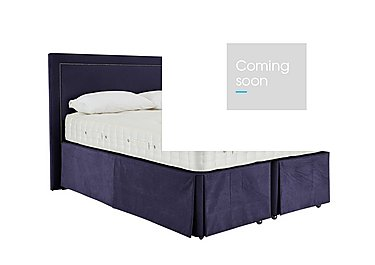 Revive Natural Splendour Pocket Sprung Divan Set in 559 Imperio 601 Purple on Furniture Village
