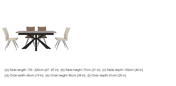 Rodez Dining Table & 4 Aline Chairs in  on Furniture Village