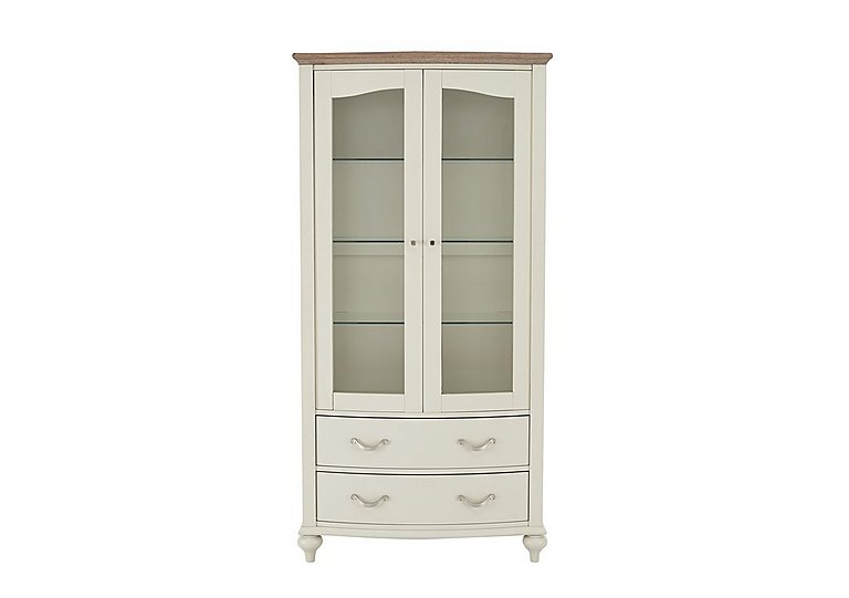Annecy Display Cabinet in Grey Washed Oak And Soft Grey on Furniture Village