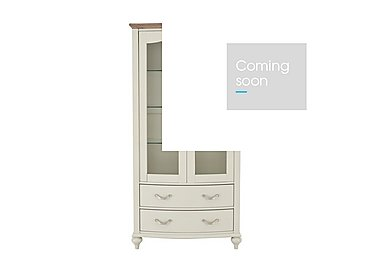 Annecy Display Cabinet in Soft Grey Paint on Furniture Village