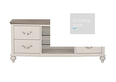 Annecy Entertainment Unit in Grey Washed Oak And Soft Grey on Furniture Village