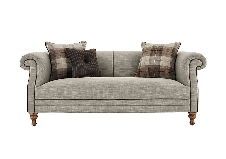 New England Hartford 3 Seater Fabric Sofa in Mrch Lin Cloud Con-Pipe Wo-Ft on Furniture Village